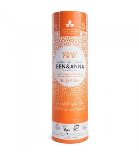 Naturalny dezodorant na bazie sody, VANILLA ORCHID, 0% aluminium, 60 g, BEN&ANNA (1)