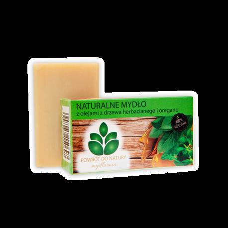 Naturalne mydło z olejami z drzewa herbacianego i oregano, 100 g, Powrót do natury (1)