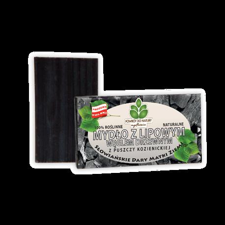 Naturalne mydło z lipowym węglem drzewnym, 100 g, Powrót do natury (1)