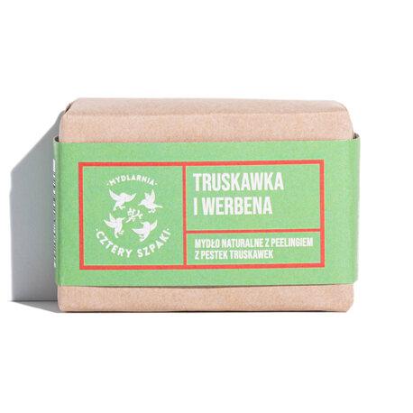 Naturalne mydło Truskawka i Werbena, 110 g, Cztery Szpaki (1)
