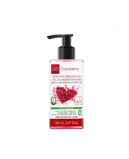 Delikatna pielęgnacja – żel do higieny intymnej, GoCranberry, 150 ml (1)