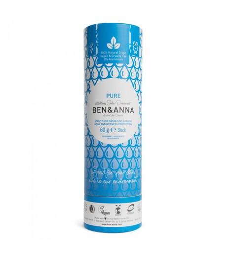Naturalny dezodorant na bazie sody, PURE, 0% aluminium, 60 g, BEN&ANNA (1)