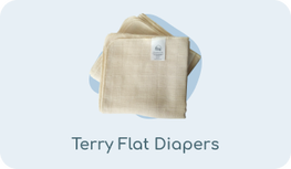 Terry flat diapers